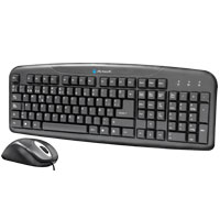 KIT DE TECLADO ESTANDAR Y MOUSE OPTICO AK-8100 USB ALAMBRICOS