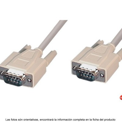 CABLE SERIAL DB9 M-M 3 METROS