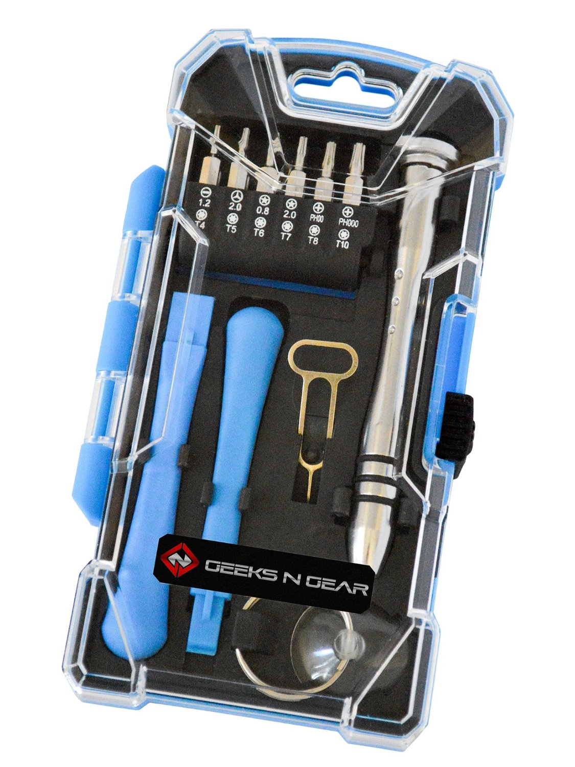 KIT DE REPARACION PARA CELULARES 17 EN 1 iPhone/Galaxy/iPad/Note/Tab/Tablets