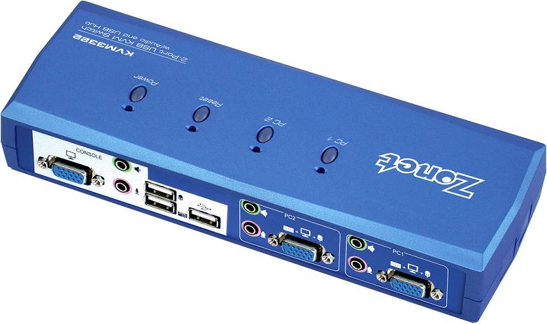 SWITCH 2 PTOS USB KVM3322 ZON C/CABLES