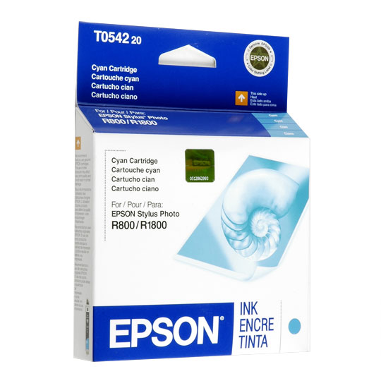 Cartucho Epson T054220 Cyan. Compatible con: Stylus Photo R1800