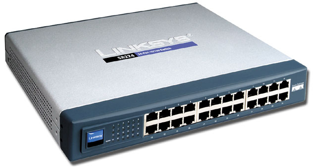 Switch Fast Ethernet Cisco Small Business, Modelo SF100-24 de 24 puertos 10/100 Mbps. Rack-montable. Full-duplex.