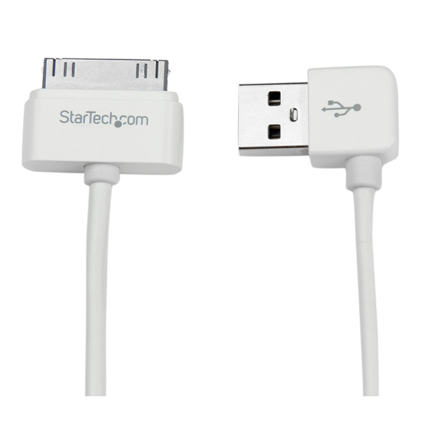CABLE 1M CONECTOR DOCK 30 PINES IPAD IPOD IPHONE A USB ANGULO DER