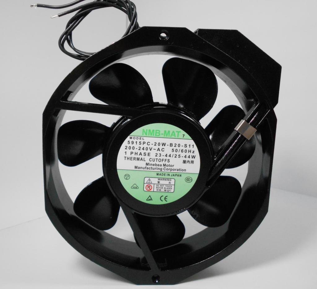 NMB-MAT 5915PC-20W-B20-S11 200-240V 23-44/25-44W 172mm x150mm x 38mm Full Metal High Temperature Resisitant Cooling Fan