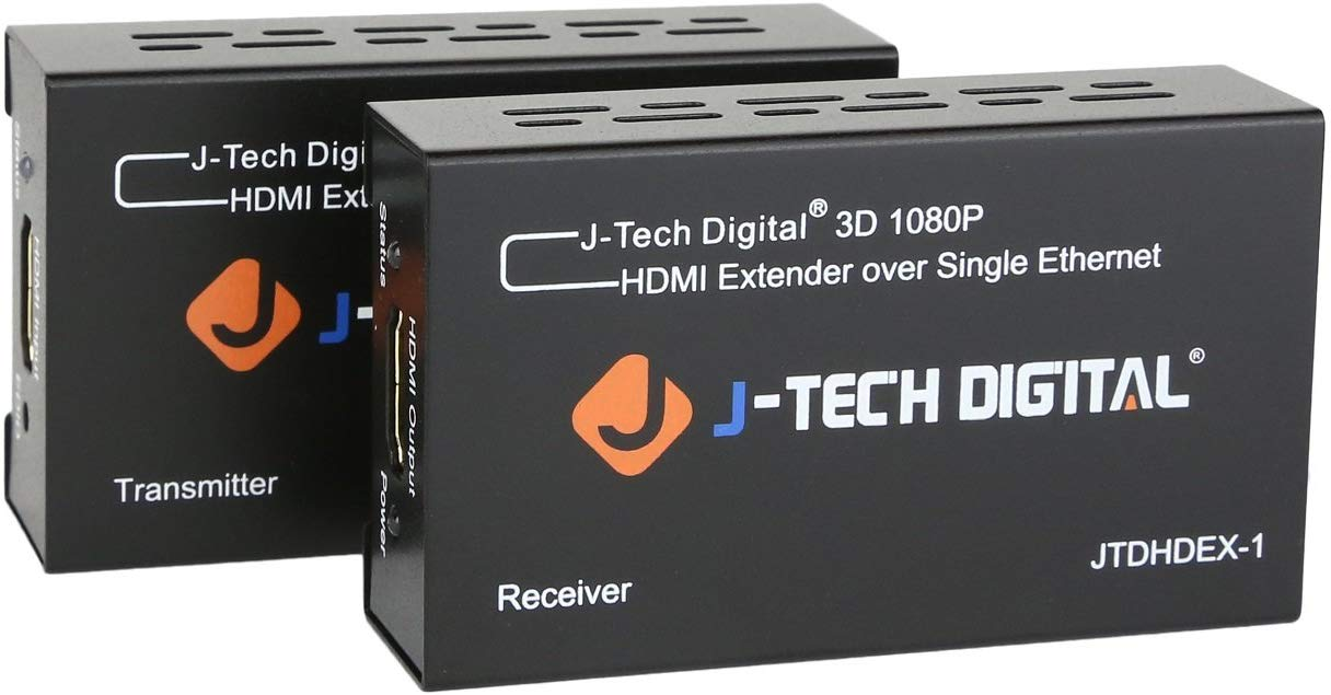 J-tech Digital Hdmi Extensor sobre Tcp/ip Ethernet over Single Cat5e cat6  1080p  JTDHDEX-1