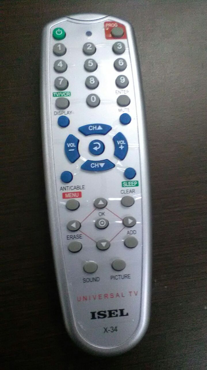 UNIVERSAL CONTROL REMOTO TV+CABLE 34T-X34