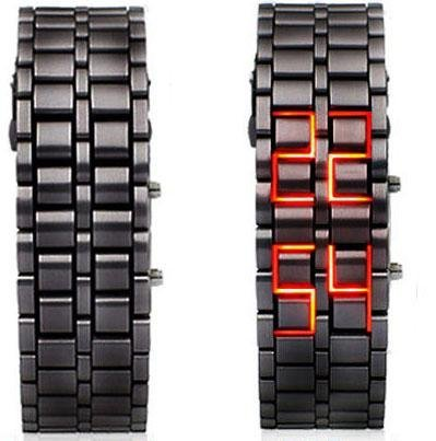 Reloj Stilo Samurai Metal band Iron Lava Wrist Faceless