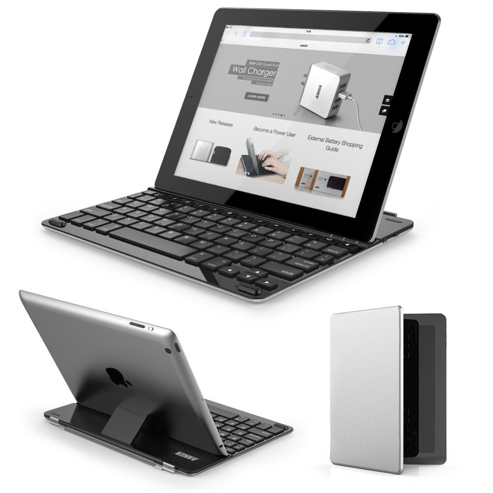 Anker Bluetooth Ultra-Slim Keyboard Cover for iPad 4 / 3 / 2