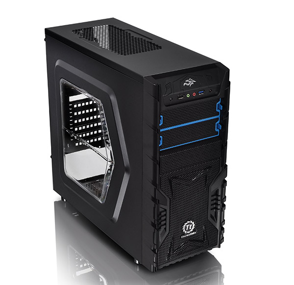 THE CS CA-1B1-00M1WN-01 VERSA H23 WINDOWS MID TOWER M/B ATX Micro ATX  bays Accessible : 2 x 5.25'' Hidden : 3 x 3.5'' or 2.5'', 3 x 2.5'' Exp Slots 7