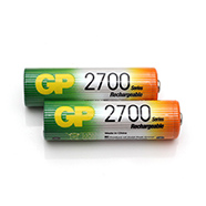 GP NiMH 2700mAh 1.2V AA Rechargeable Batteries