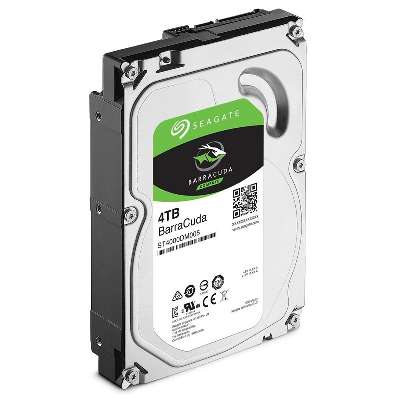 SEAGATE ST4000DM005, 4TB, BARRACUDA SATA 6.0GB/S, 64MB CACHE 3.5