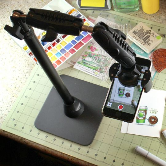 Pro Phone Stand for Live Streaming Baking Crafting Stamping and Art or Tutorial Videos