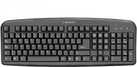 ACTECK KB AT-3000 TECLADO MULTIMEDIA USB NEGRO