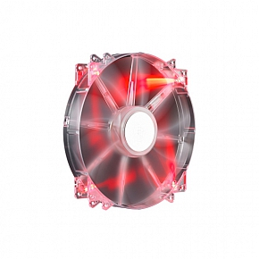 CM CA MEGAFLOW 200 RED LED SILENT FAN (R4-LUS-07AR-GP) FAN 200MM 700RPM CON 3-PIN 12V LED RED