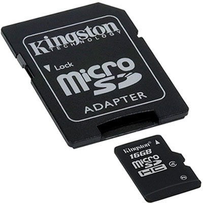 KINGSTON RM SDC4/16GB MICROSDHC 16GB CLASS4 C/ADAPTADOR