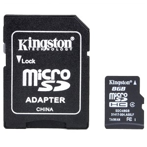 KINGSTON RM SDC4/8GB MICROSDHC 8GB CLASS4 C/ADAPTADOR