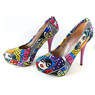 Tacones - Custom Book Girl Power -Wonder Woman- Batgirl - Supergirl Comic - cosplay - Superhero -DC Comic