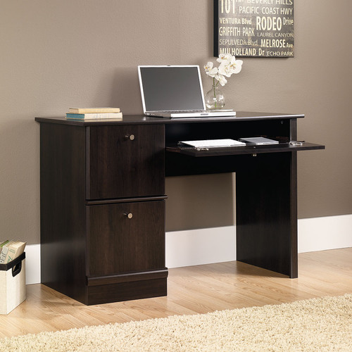 Sauder - Computer Desk with Slide-Out Keyboard Shelf - Cinnamon Cherry