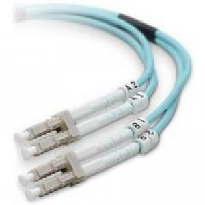 CABLE DE FIBRA OPTICA 2M LO MULTIMODE AQUA FO CBL LC/LC; 50/125; 10 GB; F2F402LL-02M-G