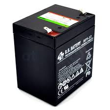 B.B. BP5-12 12V / 5Ah AGM Battery w/ F1 Terminal for Panasonic 12V 5Ah Battery