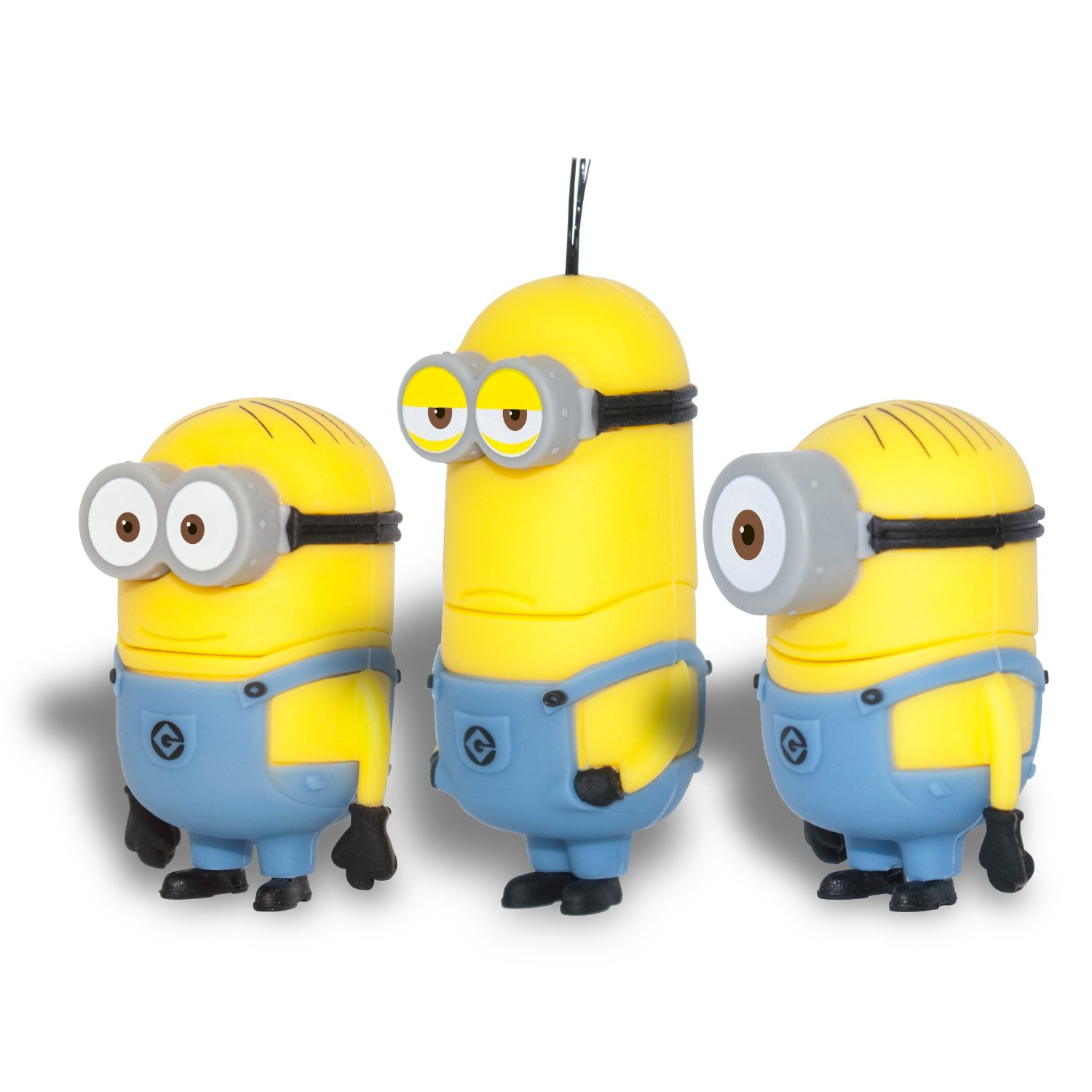 Despicable Me 2 Minions 3 Pack 8GB USB Flash Drive, Dave, Kevin, Stuart