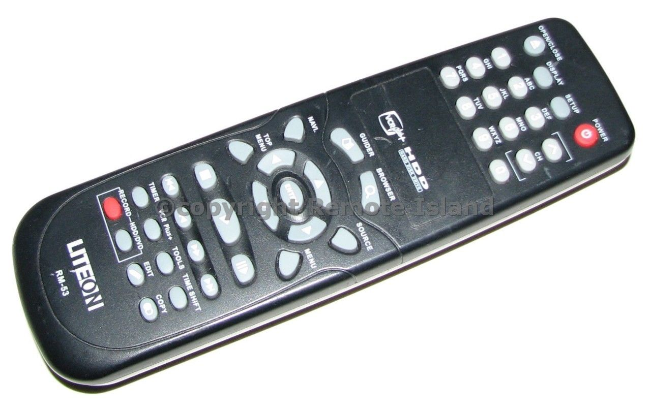 LiteOn RM-53 HDD Recorder Remote Control Lite On