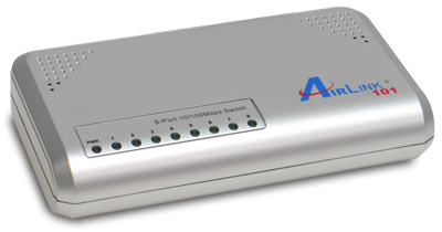 SWITCH AIRLINK 8 PUERTOS 10/100 MBPS ASW208
