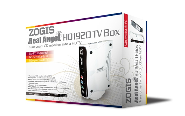 TV TUNER / ZOGIS RA1920HD-TVD REAL ANGEL