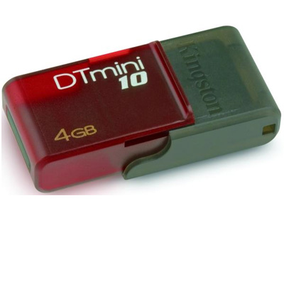 MEMORIA USB 4 GB KINGSTON MINI VIOLETA 10 DTM10/4GB