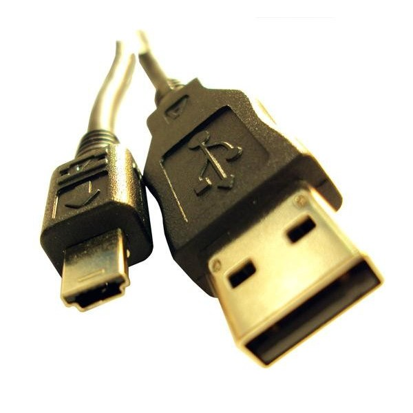 CABLE USB V2.0 A MINI B 5PIN NEGRO 1.8 MTS