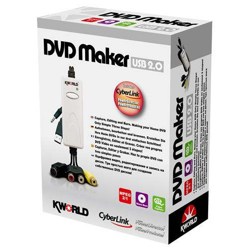 ADAPTADOR DVD MAKER KWORLD USB 2.0