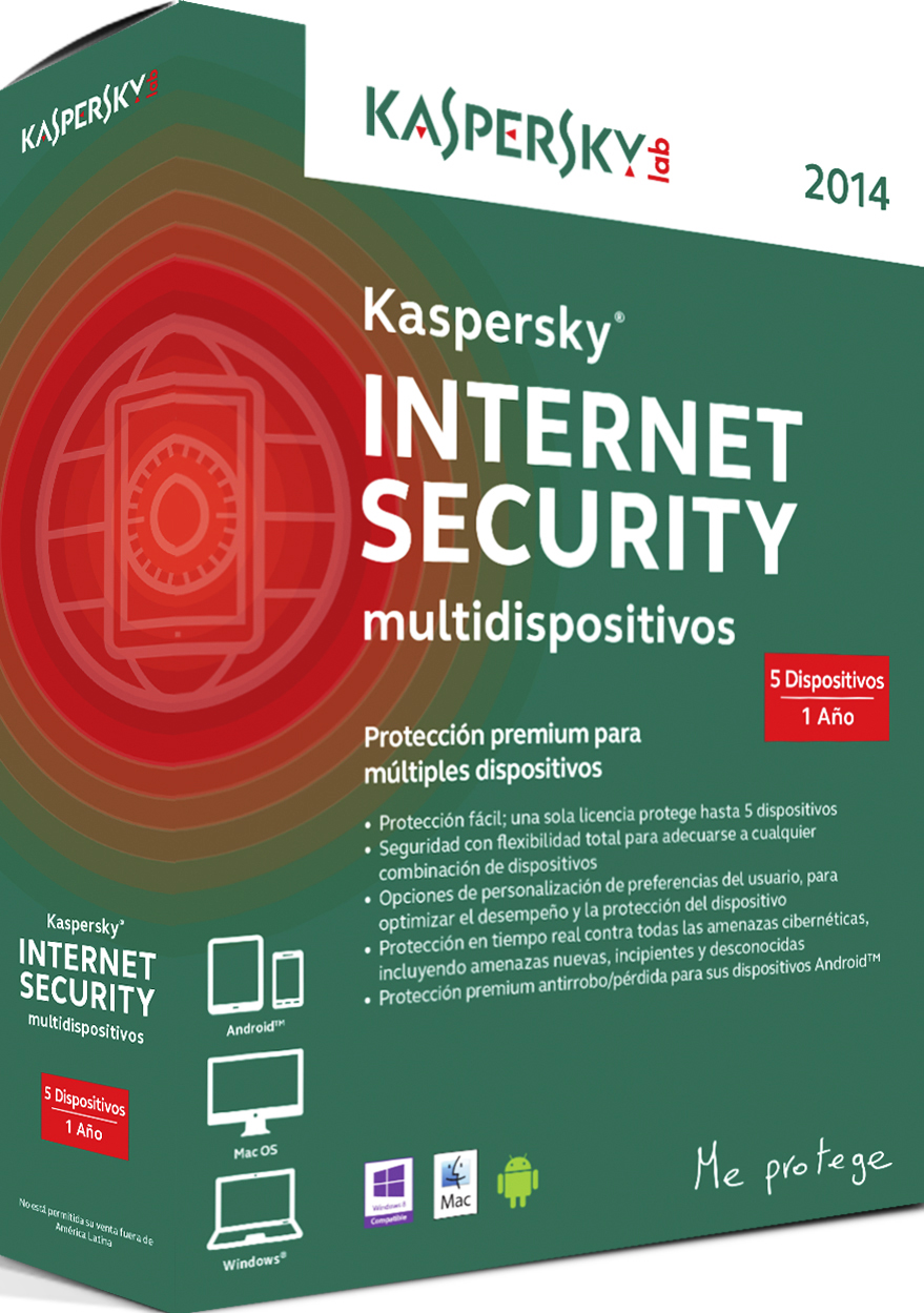 Antivirus KASPERSKY Kaspersky Internet Security Multidispositivos - 5 licencias, 2 año(s ...