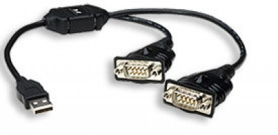 Convertidor USB a Serial - RS232 - DB9 MANHATTAN - USB 2.0, RS-232, Macho/Macho, Negro