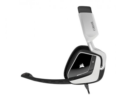 Diadema CORSAIR CA-9011139-NA - PC/Juegos, Negro, Color blanco, Alámbrico, USB, 1, 8 m