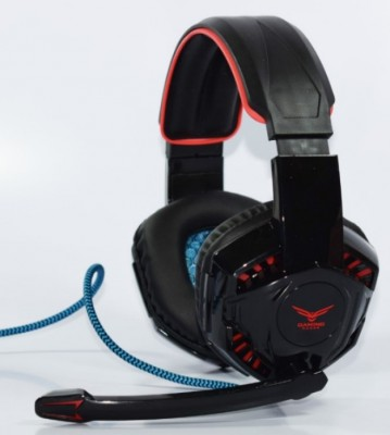 Diadema Gaming Naceb Technology NA-638R - PC/Juegos, Negro, Rojo