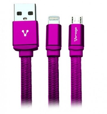 Cable Lightning VORAGO CAB-209 - Rosa, Apple, Cable Lightning