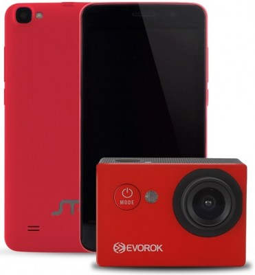 Kit Celular + Cámara ACTECK - 5 pulgadas, Quad Core, 1 GB, Rojo, Android 6.0