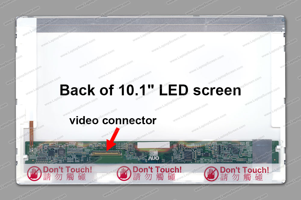 "10.1-inch WideScreen (8.74""x4.92"") SD+ (1280x720) Glossy LED LTN101AT01-L01"