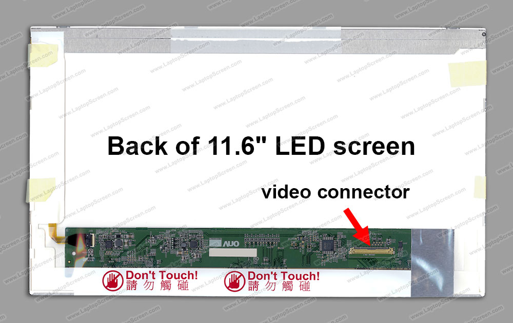 "11.6-inch WideScreen (10.08""x5.67"") WXGA (1366x768) HD Glossy LED N116BGE-L21"