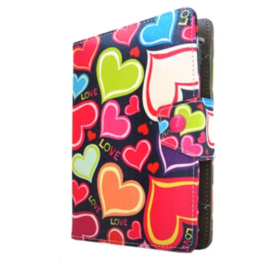 "COVER P/TABLET 7"" SENCILLO BLACK HEARTS"