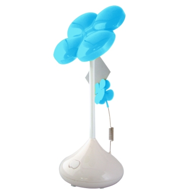 LÁMPARA USB LED FLOR AZUL PASTEL