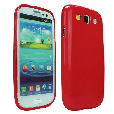 CASE GALAXY S3 JELLY CASE ROJO