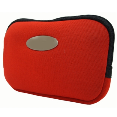 FUNDA CÁMARA DIGITAL NEOPRENO SLIM ROJA
