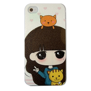 CASE IPHONE 4 CARBONO CANDY CATS