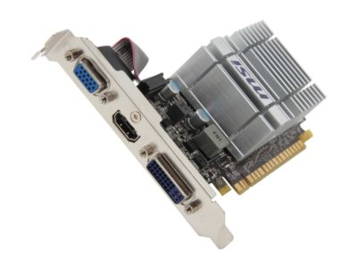 MSI N210-MD512D3H/TC GeForce 210 512MB onboard (TurboCache 1GB) 64-bit DDR3 PCI Express 2.0 x16 HDCP Ready Low Profile Ready Video Card