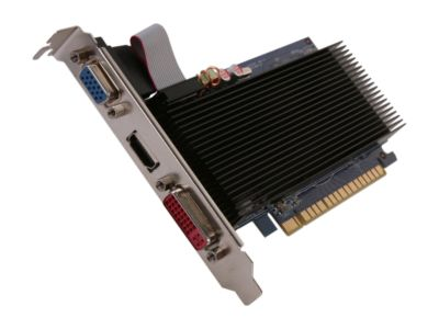 ECS N8400GSC-1GQM-H2 GeForce 8400 GS 1GB 64-bit DDR3 PCI Express 2.0 x16 HDCP Ready Video Card