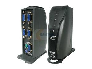 StarTech SV411KT 4 Port Tower Style PS/2 KVM Switch Kit with Cables