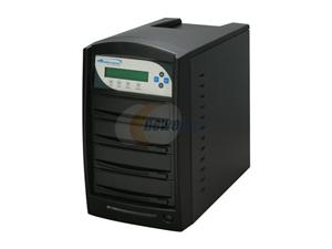 VINPOWER Black 1 to 3 20X DVD+R 8X DVD+RW 8X DVD+R DL 20X DVD-R 6X DVD-RW 48X CD-R 32X CD-RW CD/DVD Duplicator Model VP4690-OPT-3BK-250GB