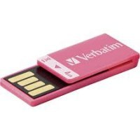 MEMORIA USB VERBATIM FLSH CLIP-IT 4GB ROSA