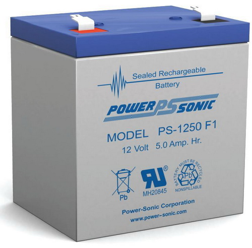 BATERÍA POWER SONIC 12V/5Ah Sealed Lead Acid Battery with F1 Terminal for Vision CP1250